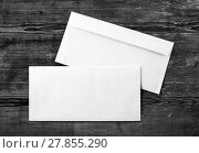 Купить «Photo of blank envelopes», фото № 27855290, снято 17 ноября 2018 г. (c) PantherMedia / Фотобанк Лори