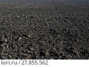 Купить «the black plowed field in the fall», фото № 27855562, снято 22 июля 2018 г. (c) PantherMedia / Фотобанк Лори
