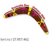 Купить «Australia Day Decorated Boomerang», иллюстрация № 27857462 (c) PantherMedia / Фотобанк Лори