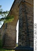Купить «bridge over water,viaduct over ruhr,germany», фото № 27861830, снято 21 марта 2019 г. (c) PantherMedia / Фотобанк Лори