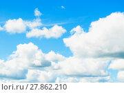 Купить «Dramatic cloudy sky clouds - natural sky background», фото № 27862210, снято 12 августа 2016 г. (c) Зезелина Марина / Фотобанк Лори