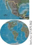 Купить «Mexico and The Americas maps», иллюстрация № 27875562 (c) PantherMedia / Фотобанк Лори