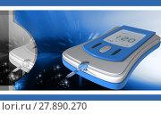 Купить «Glucose meter», фото № 27890270, снято 22 октября 2019 г. (c) PantherMedia / Фотобанк Лори