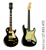 Купить «Black Guitar Duo», фото № 27893470, снято 24 февраля 2018 г. (c) PantherMedia / Фотобанк Лори