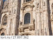 Купить «Duomo Cathedral of Milan Italy», фото № 27897362, снято 13 декабря 2018 г. (c) PantherMedia / Фотобанк Лори