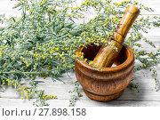 wormwood and mortar. Стоковое фото, фотограф Mykola Lunov / PantherMedia / Фотобанк Лори