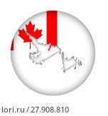 Купить «Canada Newfoundland state map flag button», фото № 27908810, снято 23 апреля 2018 г. (c) PantherMedia / Фотобанк Лори