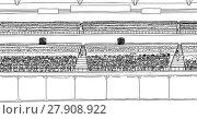 Купить «Large Stadium with Spectators as Outline», иллюстрация № 27908922 (c) PantherMedia / Фотобанк Лори