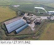 Купить «Hangar of galvanized metal sheets for storage of agricultural products», фото № 27911842, снято 19 августа 2018 г. (c) PantherMedia / Фотобанк Лори