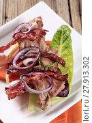 Купить «Roast meat on skewer with crispy bacon», фото № 27913302, снято 22 ноября 2019 г. (c) PantherMedia / Фотобанк Лори