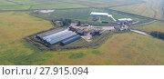 Купить «Hangar of galvanized metal sheets for storage of agricultural products», фото № 27915094, снято 18 января 2019 г. (c) PantherMedia / Фотобанк Лори