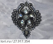 Купить «detailed ornament fashion embroidery with rhinestones», фото № 27917354, снято 22 октября 2018 г. (c) PantherMedia / Фотобанк Лори