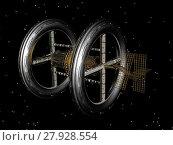 Купить «orbital station in space», фото № 27928554, снято 23 марта 2018 г. (c) PantherMedia / Фотобанк Лори