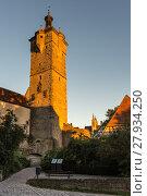 Купить «klingentor - klingenturm in rothenburg ob der tauber», фото № 27934250, снято 23 марта 2019 г. (c) PantherMedia / Фотобанк Лори