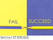 Купить «Fail versus Succeed contrast concept», фото № 27935622, снято 17 октября 2018 г. (c) PantherMedia / Фотобанк Лори