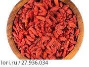 Купить «goji berries close up», фото № 27936034, снято 28 мая 2018 г. (c) PantherMedia / Фотобанк Лори