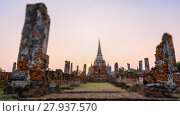 Купить «Tilt-Shift Wat Phra Si Sanphet, Thailand», фото № 27937570, снято 24 октября 2018 г. (c) PantherMedia / Фотобанк Лори