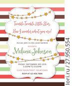 Купить «Lovely baby shower card, vector format», иллюстрация № 27950554 (c) PantherMedia / Фотобанк Лори