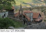 Купить «View from top to David Gareja cave monastery complex. Kakheti. Georgia.», фото № 27954086, снято 24 апреля 2019 г. (c) PantherMedia / Фотобанк Лори