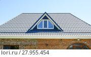 Купить «The roof of corrugated sheet», фото № 27955454, снято 26 мая 2019 г. (c) PantherMedia / Фотобанк Лори