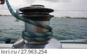 Купить «sailing winch», фото № 27963254, снято 24 марта 2018 г. (c) PantherMedia / Фотобанк Лори