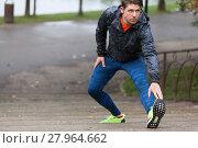 Купить «Jogging in the park», фото № 27964662, снято 17 июня 2018 г. (c) PantherMedia / Фотобанк Лори