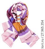 Купить «knotted scarf from pink painted silk batik», фото № 27965354, снято 19 июня 2019 г. (c) PantherMedia / Фотобанк Лори
