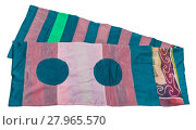 Купить «scarf stitched from silk strips and circles», фото № 27965570, снято 20 апреля 2018 г. (c) PantherMedia / Фотобанк Лори