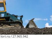 Купить «construction machine on a construction site», фото № 27965942, снято 24 марта 2019 г. (c) PantherMedia / Фотобанк Лори