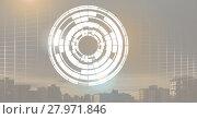 Купить «Glowing circle technology interface», фото № 27971846, снято 23 февраля 2020 г. (c) Wavebreak Media / Фотобанк Лори