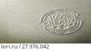 Купить «3D illustration of an embossed stamp with the text 100 percent creative. Background for communication on creativity and innovation in graphic design», фото № 27976042, снято 19 августа 2019 г. (c) PantherMedia / Фотобанк Лори