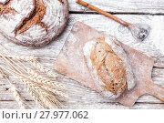 Купить «Delicious fresh bread on wooden background», фото № 27977062, снято 22 августа 2018 г. (c) PantherMedia / Фотобанк Лори