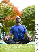 Купить «young man exercising yoga», фото № 27977142, снято 20 февраля 2019 г. (c) PantherMedia / Фотобанк Лори