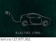 Купить «electric and hybrid cars: vehicle with big funny plug», фото № 27977302, снято 11 декабря 2018 г. (c) PantherMedia / Фотобанк Лори