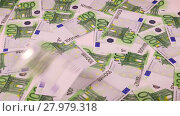 Купить «Banknotes in denomination one hundred euro falling on the table», видеоролик № 27979318, снято 8 января 2018 г. (c) Алексей Кузнецов / Фотобанк Лори