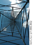 Купить «power pole photographed from below», фото № 27980802, снято 11 декабря 2018 г. (c) PantherMedia / Фотобанк Лори