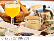 Купить «Moroccan breakfast served on hotel terace in Atlas Mountains», фото № 27986738, снято 21 июля 2019 г. (c) PantherMedia / Фотобанк Лори