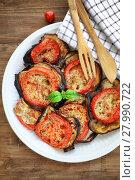 Купить «Baked eggplant with tomatoes», фото № 27990722, снято 20 января 2019 г. (c) PantherMedia / Фотобанк Лори