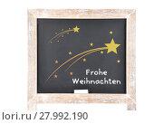 Купить «christmas greetings with comet on chalkboard», фото № 27992190, снято 17 декабря 2018 г. (c) PantherMedia / Фотобанк Лори
