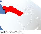 Купить «Turkmenistan on globe», фото № 27993410, снято 15 июня 2019 г. (c) PantherMedia / Фотобанк Лори