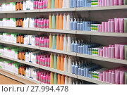 Купить «Toiletries retail shelves», фото № 27994478, снято 22 марта 2019 г. (c) PantherMedia / Фотобанк Лори