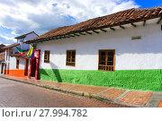 Купить «Colonial Street in Bogota, Colombia», фото № 27994782, снято 19 февраля 2018 г. (c) PantherMedia / Фотобанк Лори