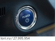 Купить «Power button of a car», фото № 27995954, снято 21 мая 2019 г. (c) PantherMedia / Фотобанк Лори