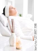 Купить «a woman relaxing in a beauty salon.», фото № 27997198, снято 23 января 2020 г. (c) PantherMedia / Фотобанк Лори