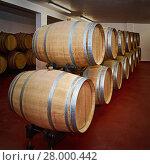 Купить «Barrels with Wine», фото № 28000442, снято 16 июня 2019 г. (c) PantherMedia / Фотобанк Лори