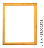 Купить «rectangle decorative golden picture frame», фото № 28000862, снято 26 мая 2018 г. (c) PantherMedia / Фотобанк Лори