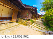 Купить «Nakasendo Traditional Houses Path Tsumago Angled», фото № 28002962, снято 22 сентября 2018 г. (c) PantherMedia / Фотобанк Лори