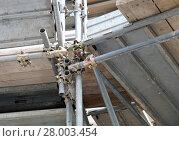 Купить «clamp scaffolding», фото № 28003454, снято 20 июля 2018 г. (c) PantherMedia / Фотобанк Лори