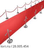 Купить «Red carpet, diagonal side view», фото № 28005454, снято 21 февраля 2018 г. (c) PantherMedia / Фотобанк Лори
