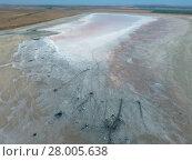 Купить «Top view of the salt lake mud sources. External similarity with craters. Mud healing springs», фото № 28005638, снято 22 января 2019 г. (c) PantherMedia / Фотобанк Лори